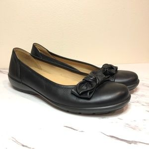 Hotter Comfort Concept Jewel Bow Leather Flats